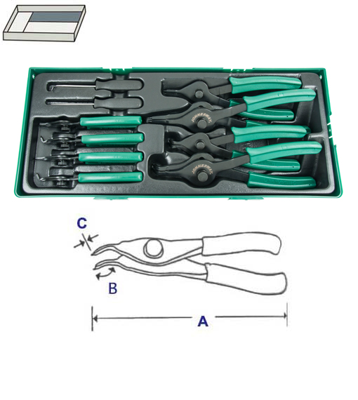 SNAP RING PLIER SET