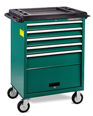 5-DRAWER TOOL TROLLEY W/ WORKING TABLE