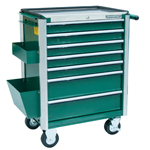7-DRAWER TOOL TROLLEY W/STAINLESSE WORKING TABLE