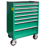 7-DRAWER TOOL TROLLEY W/KNOCKABLE WORKING TABLE