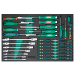 34PCS SCREWDRIVER,DOUBLE FLEX,SOCKET AND PRECISION SD SET
