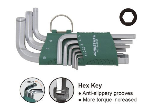 9PCS SHORT ARM HEX KEY SET(MM)